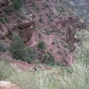 View of winding trail below Supai tunnel