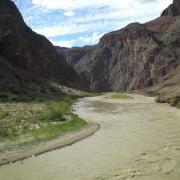 Colorado River looking west from silver bridge