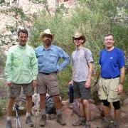 L to R: David, Brad, Phil, Roger at Cottonwood Camp. Photo by Ranger C. Sypher