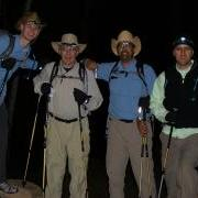 L to R: P. Mehrer, R. Mehrer, B. Spencer, D. Klenk. North kaibab Trailhead 5:20am 9/28/07