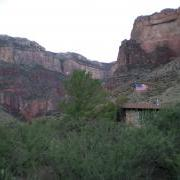 Ranger station and view of south rim from Indian Garden