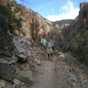 On the trail to Roaring Springs